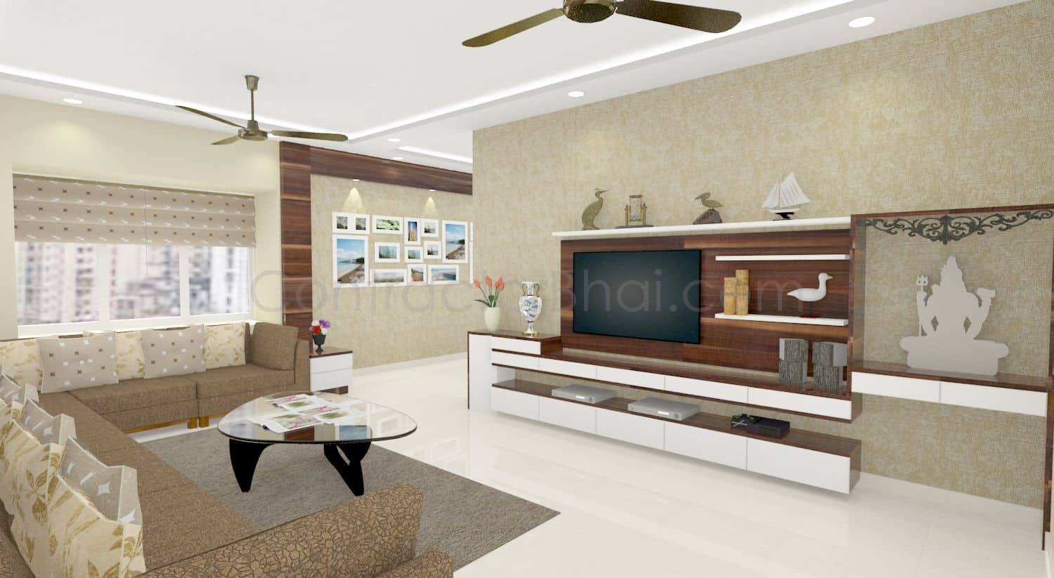 3d interior design service for indian homes contractorbhai for Interior woodwork designs in hyderabad