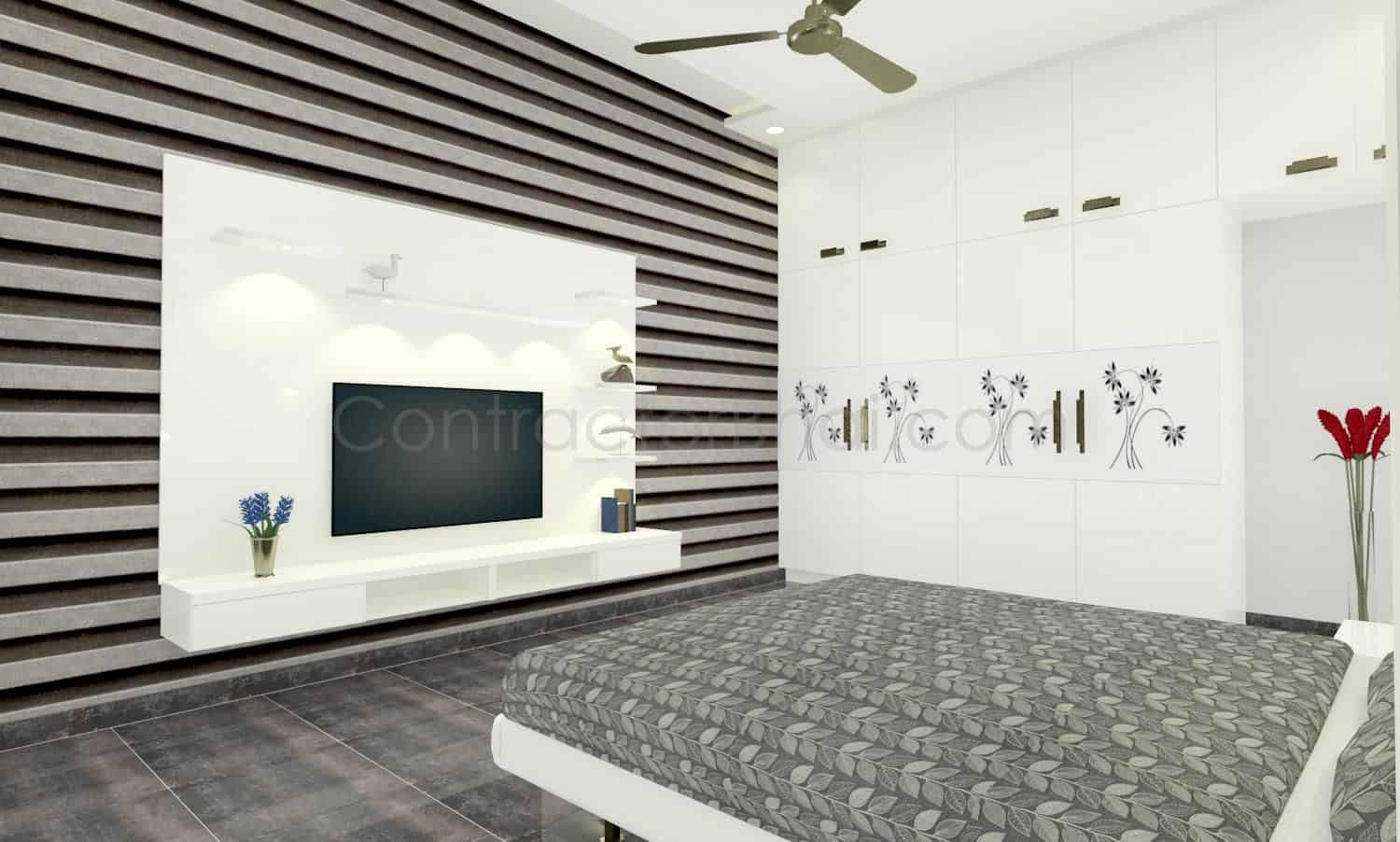 3d interior design service for indian homes contractorbhai. Black Bedroom Furniture Sets. Home Design Ideas