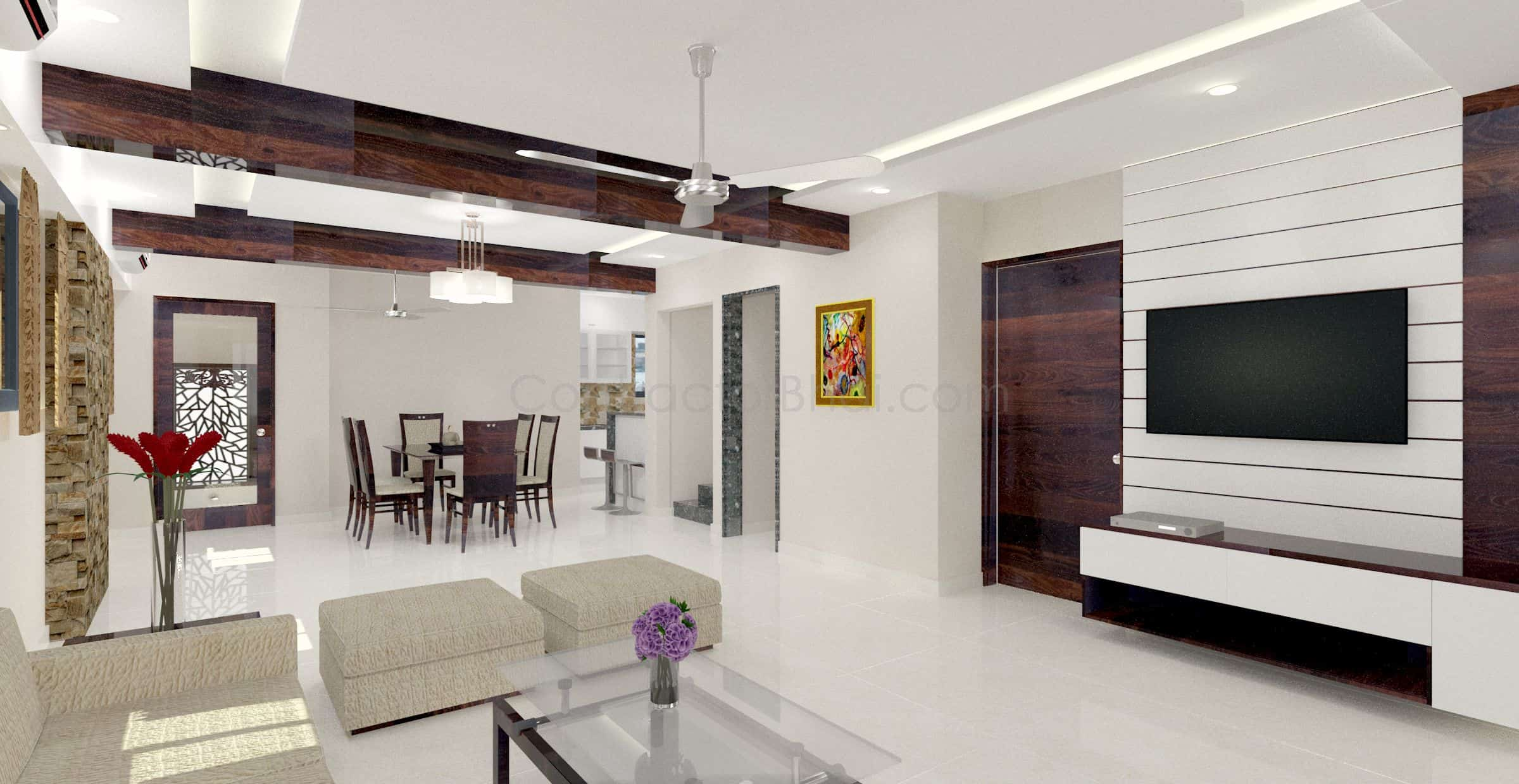 3d interior design service for indian homes contractorbhai for Image of interior design