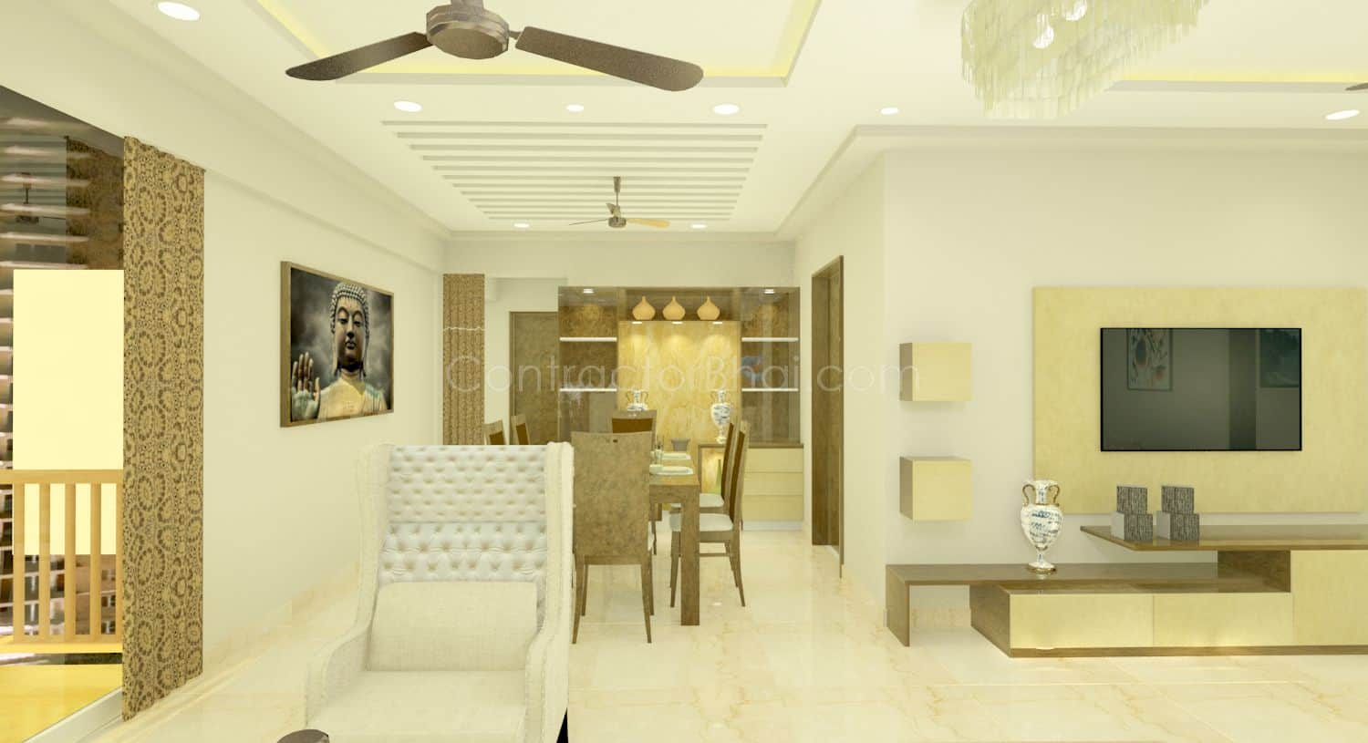 Interior design for 3 bhk home - 3d Design Service 10 2