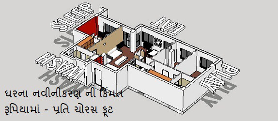 cost per square feet home renovation in mumbai gujarati