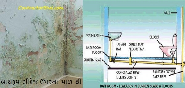 bathroom ceiling water leakage plumbing contractorbhai gujarati