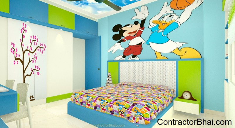 Design Ideas for Kids room Bangalore ContractorBhai