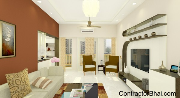 Sophisticated Living Room- Indira Nagar, Bangalore