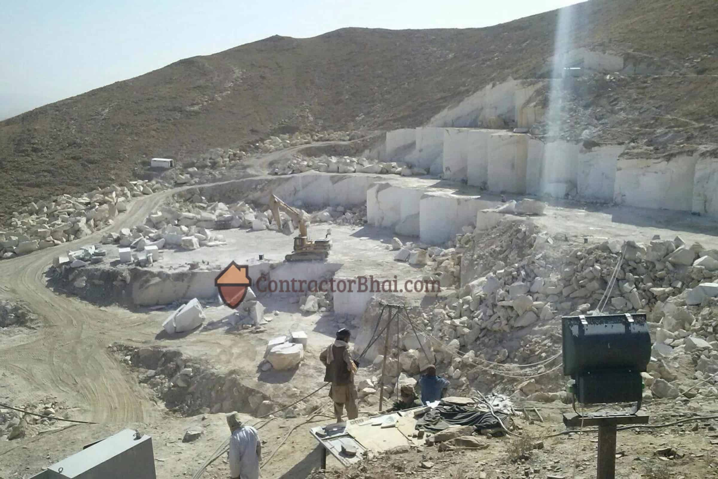 Bianco Marble Excavation Site