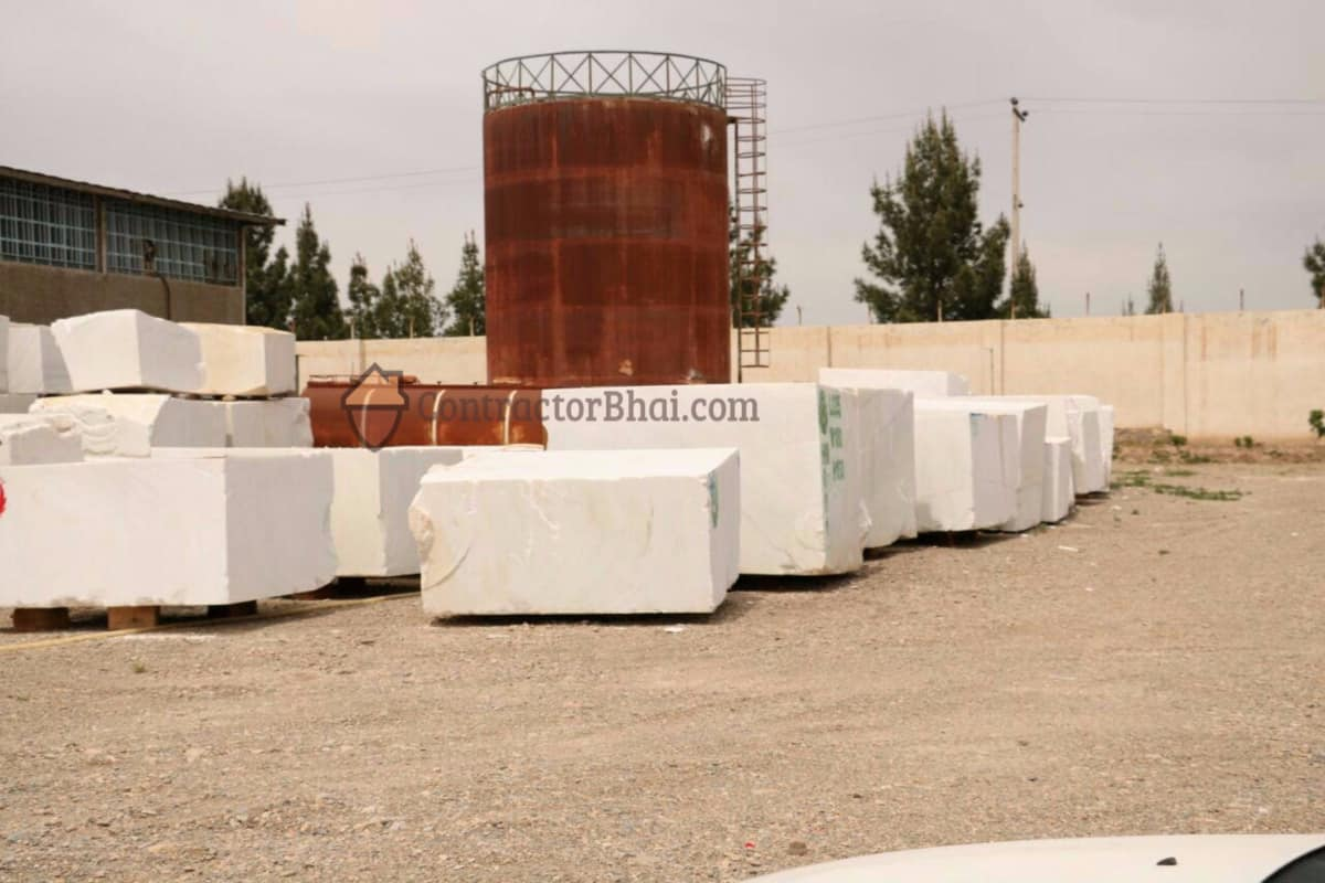 Sorted Bianco Marble slabs