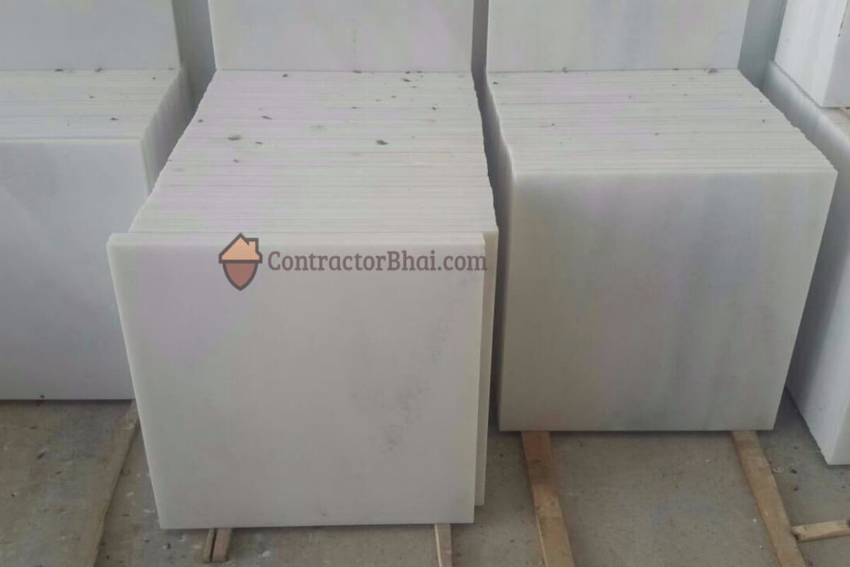 Bianco Marble Tile Sorting