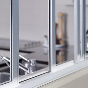 White Anodized Aluminum Sliding Windows