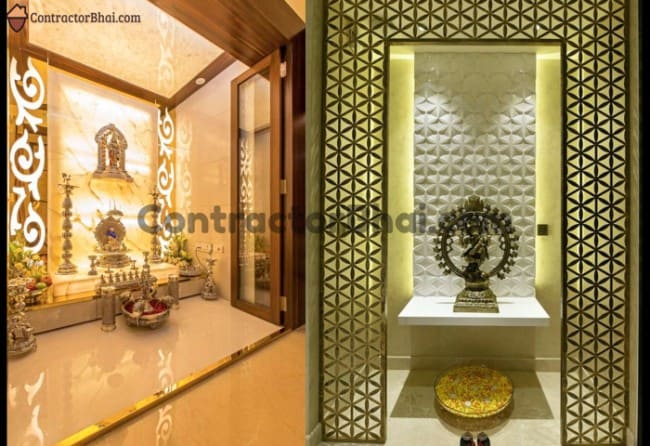 Divine Mandir Spaces For Modern Home Owners Contractorbhai
