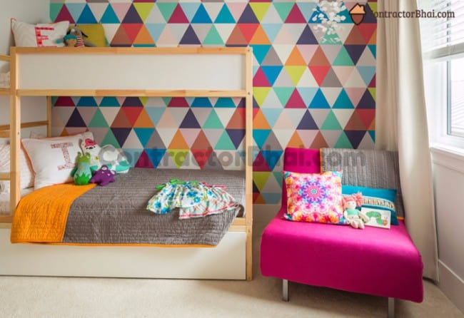 Contractorbhai-Geometric-Wallpaper-For-All-age-Kids-Room