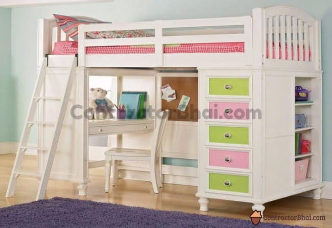 Contractorbhai-Kids-Room-Bunk-Bed-Storage-Ideas