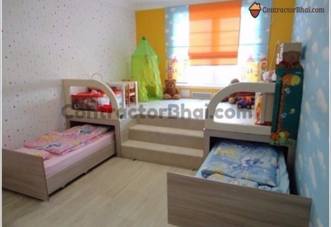 Contractorbhai-Shared-Kids-Room-Space-Saving-Idea