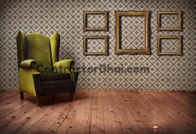 Contractorbha-Vintage-Wallpaper-for-Living-Room
