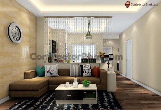 Ideas to separate living room dining area contractorbhai - Dining room living room separation ...