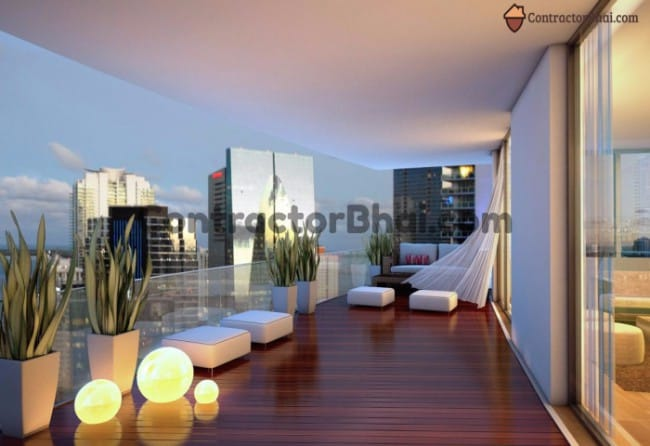 Contractorbhai Luxurious Modern Balcony Design Contractorbhai