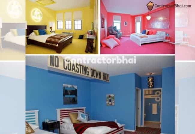 Contractorbhai-Kids-Bedroom-Directional-Wall-Color