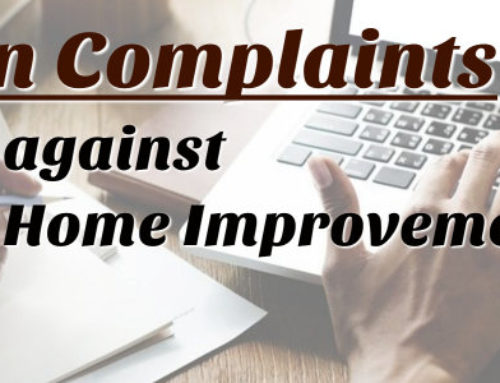 Common Complaints against Home Improvement Loan