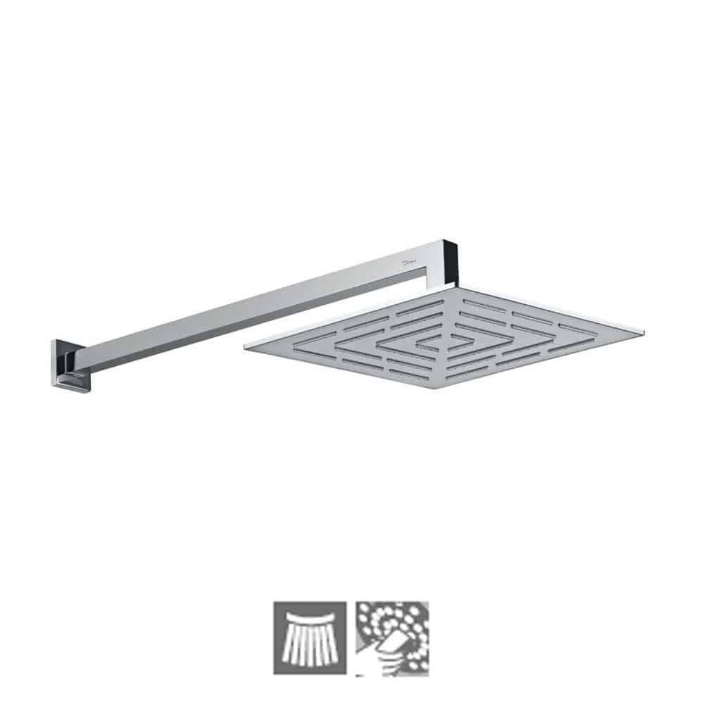 OHS-CHR-1639-Square Shape Single Flow Maze Overhead Shower-Jaguar